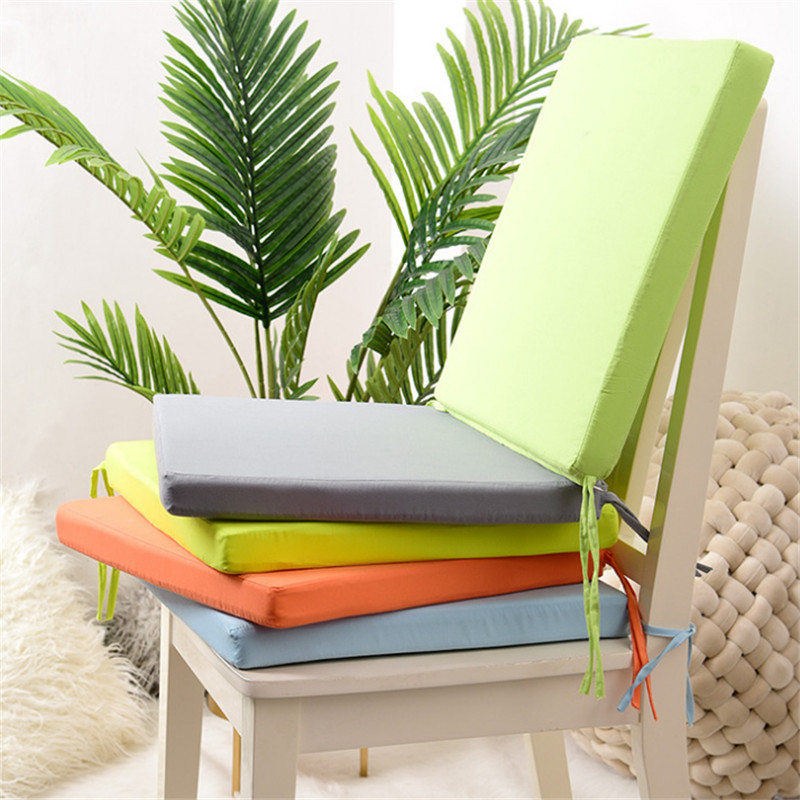 Cojín cuadrado sólido extraíble para silla, 40x40cm, lazo para exteriores, para jardín, Patio, almohadilla de asiento impermeable