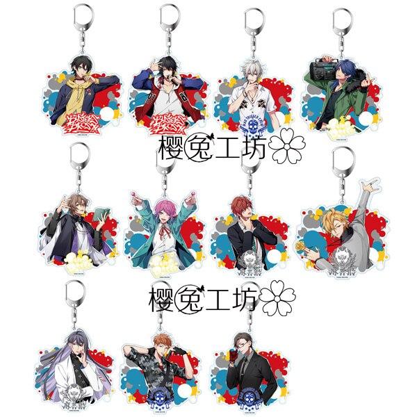 COOL Anime Division Rap Battle Hypnosis Mic DRB MC.B.B MC.M.B MC.L.B Keychain Cosplay Acrylic Figure Keyring Charms Gifts 6cm