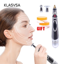 KLASVSA Electronic Laser Acupuncture Pen Meridians Massage E