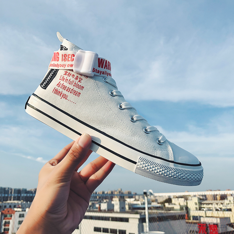 2019 New Fashion Vulcanized High Band Shoes Shoes Men Shoes Women Comfortables Lightweight Mens Shoes Casual Sneaker in Men 39 s Casual Shoes from Shoes