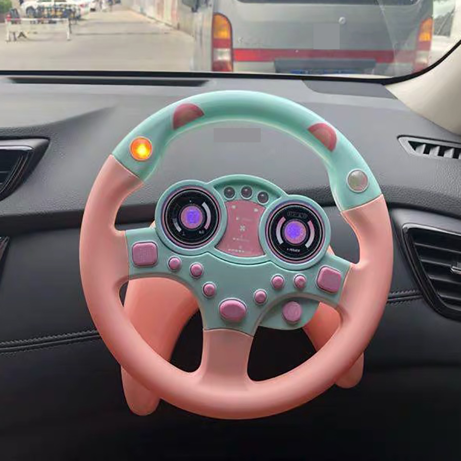Toy Car Wheel Kids Baby Interactive Toys Children Steering Wheel With Light Sound Simulation Driving Car Toy Education Toy Gift