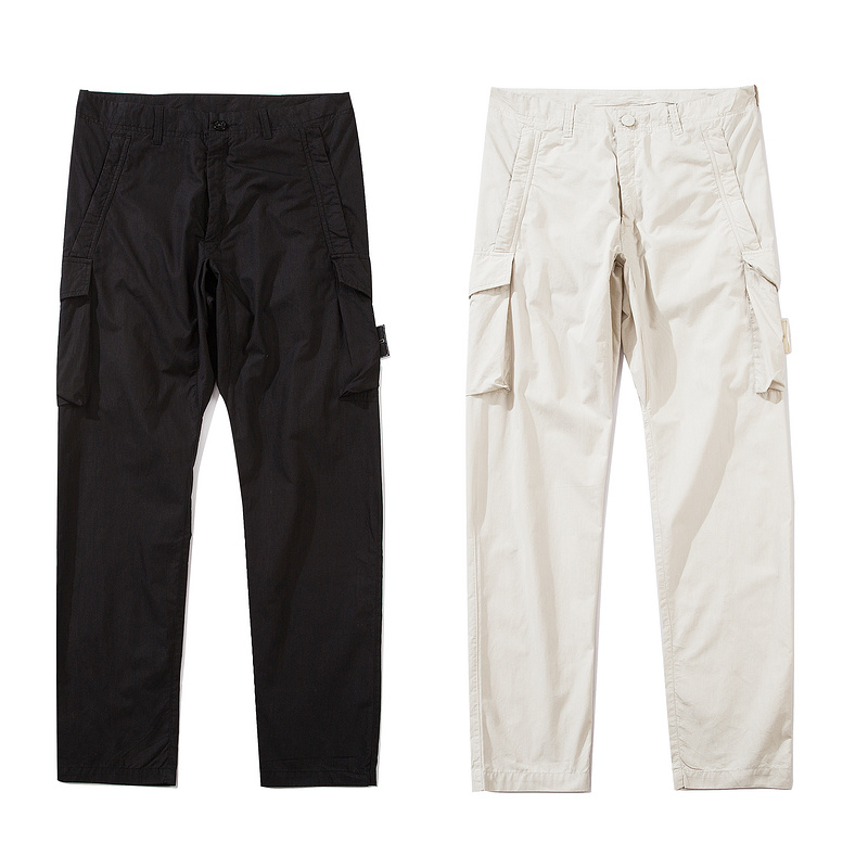 2020ss Compass Logo Badge Ghost Collection Pockets Women Men Jogger Pants Trousers Men Casual Pants Sweatpants