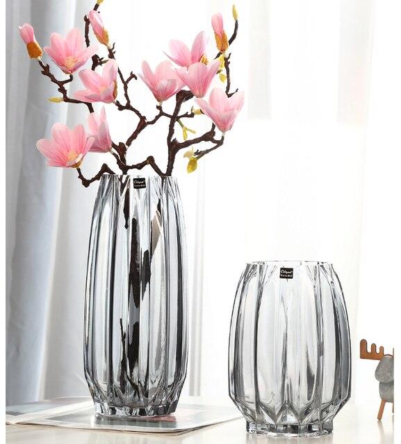 Vases Creative Large Glass Bottle Transparent Home Decor Hydroponic Terrarium Lily Rose Vase Living Room Flower Decoration 2