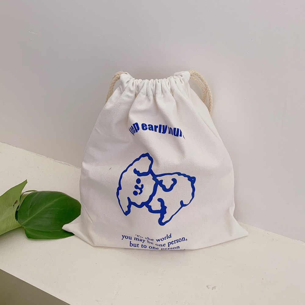 Ins Concise Druck Bär Bleistift Cese Kosmetik Tasche Kawaii Große Kapazität Student Leinwand Lagerung Tasche Schule Schreibwaren