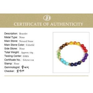 Image 5 - JD Fashion 7 Chakra Bracelet Men Black Lava Healing Balance Beads Reiki Buddha Prayer Natural Stone Yoga Bracelet Women Jewelry