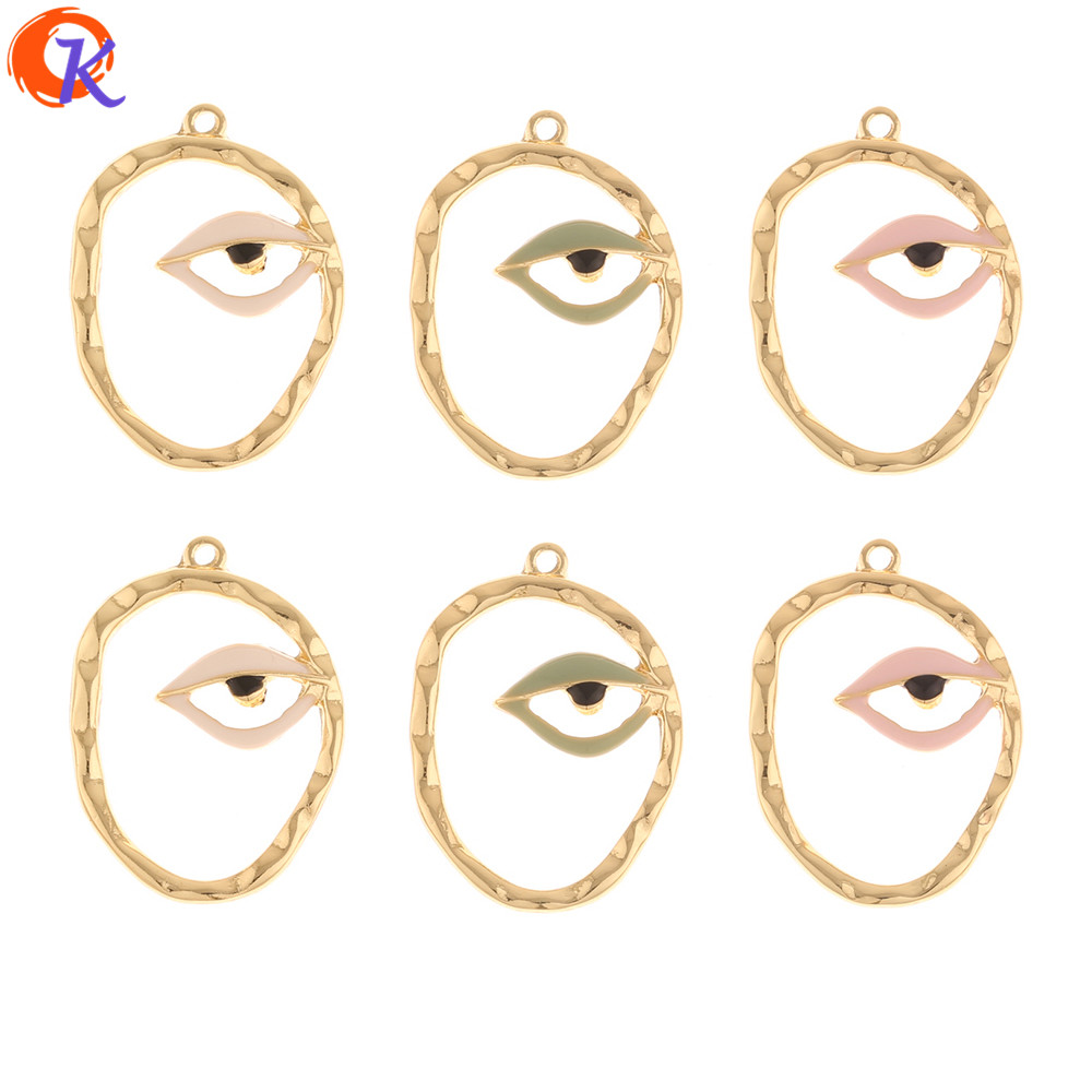 Cordial Design 50Pcs 21*28MM Jewelry Accessories/DIY Earrings Making/Charms/Paint Effect/Pendant/Hand Made/Earring Findings
