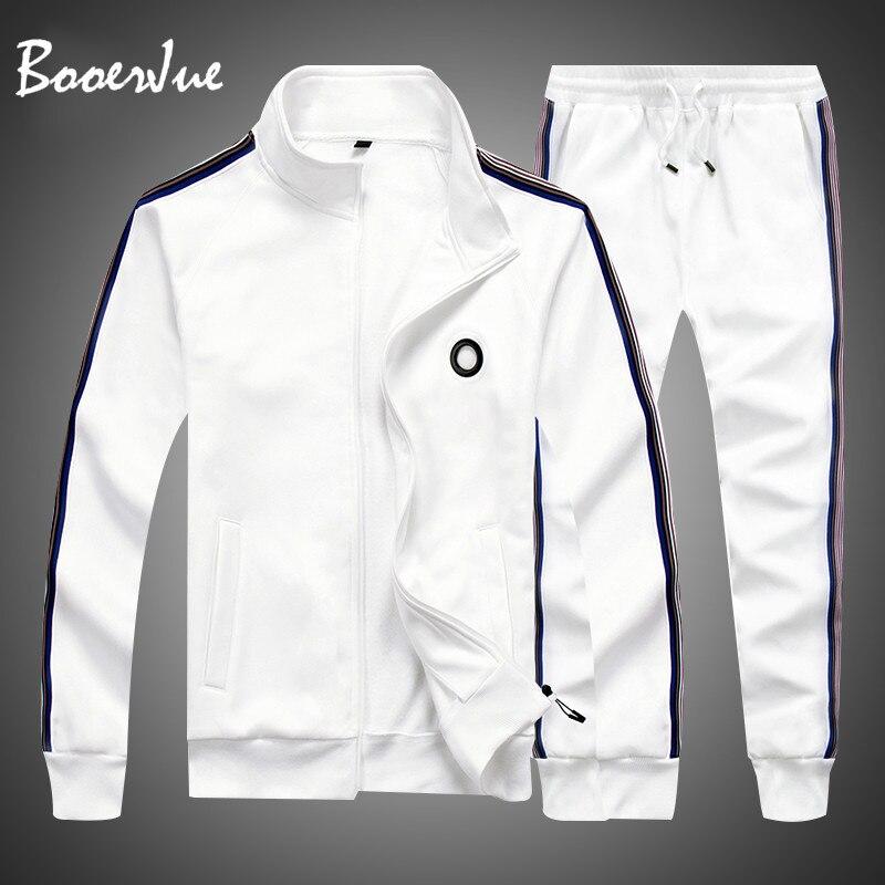 Sporting Suit 2pcs Sweatshirt +Sweatpants Mens Clothing 2 Pieces Sets Men Sets Fashion 2020 Autumn Spring Slim Tracksuit Hoodies
