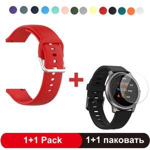 Correa de reloj para Haylou Solar LS05 pulsera de repuesto de muñeca para XiaoMi Haylou Correa Solar con Protector de pantalla de vidrio