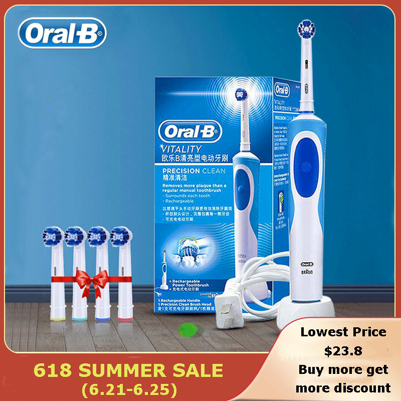 Promotion Original Oral B Electric Toothbrush D12 Series Vitality Rotation Type Teeth Brush Precision Cleaning Whitening  Brush