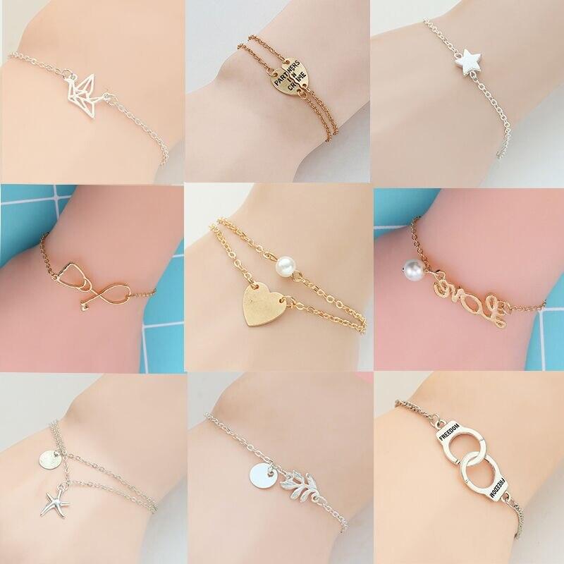 Trendy Handcuffs Bracelets Bracelets For Women Bangles Hollow Dove Round Coin Heart Bracelet Femme Charms Jewelry