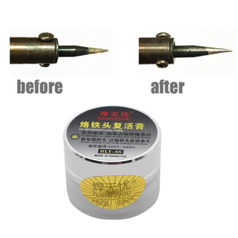 1pcs Soldering Iron Tip Refresher Clean Paste For Iron Tip Head Clean Resurrection Clean Material