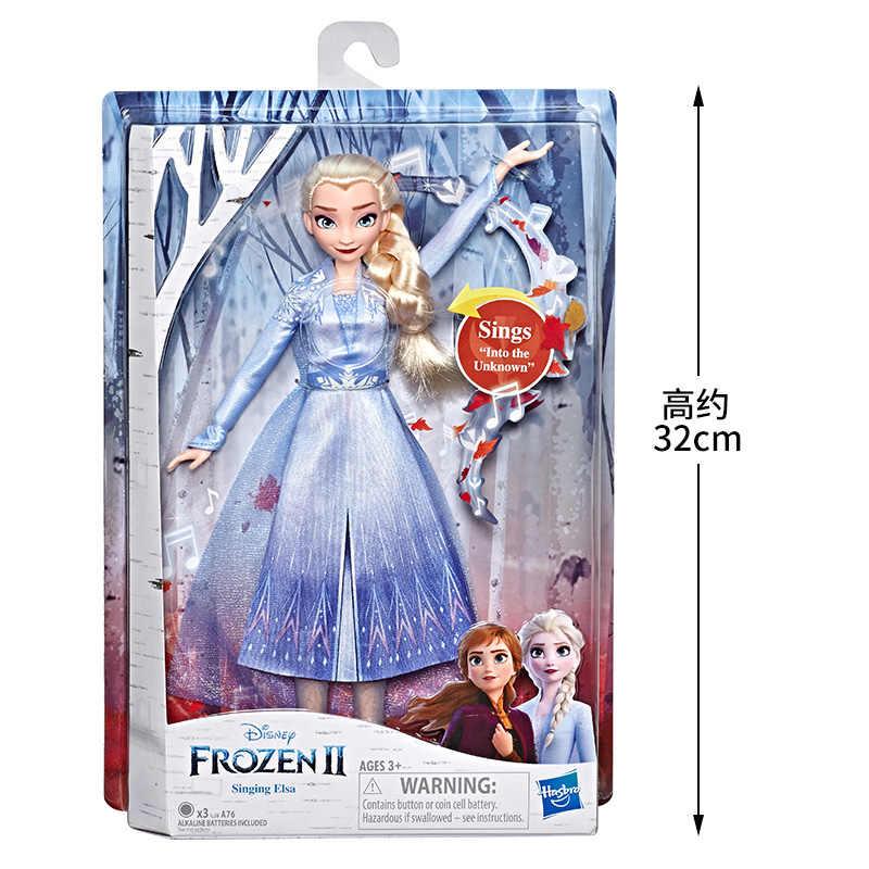 """Оригинальная Hasbro Эльзы из мультфильма """"Холодное сердце"""", ледяной принцессы Анны из мультфильма «Холодное сердце»; модные красивые куклы платье из фильма для девочек, игрушки для детей, подарки на день рождения Juguetes"""