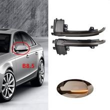 2PCS Dynamic Turn Signal LED Side Mirror Indicator Blinker Repeater Light For Audi A3 8P A4 A5 B8 Q3 A6 C6 S6 B8.5 S5 RS5 RS4 a3 a4 a5 carbon fiber replaced side mirror cover for audi a3 s3 8p a4 b8 s4 rs4 2008 2010 a5 s5 8t 2007 2009