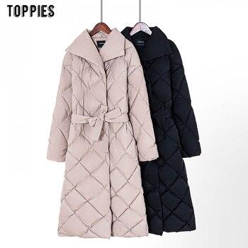 Toppies Winter Coat Women Parkas Thicker Warm Plaid Bubble Coat Korean Puffer jacket fashion outwear