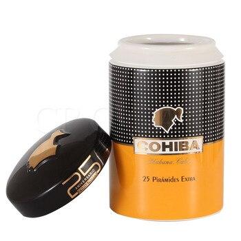 COHIBA Ceramics Cigar Tube Luxury Big Cigars Humidor Jar Home Storage Cuban Cigars Box Tube Smoking Accessory W/gift Box