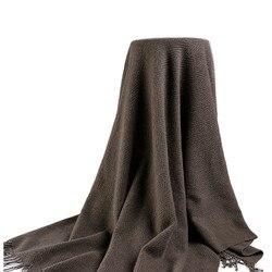 100%lambswool twill fashion oversized thick heavy multi function scarf shawl blanket pashmina 135X185cm retail wholesale