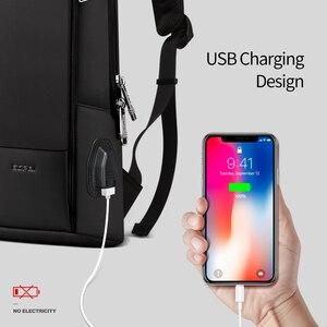 Image 2 - BOPAI Super Slim Laptop Backpack USB Charging Port Men Anti Theft Back Pack Waterproof College Backpacking Updated Version