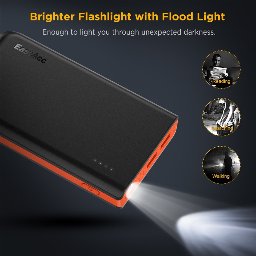 EasyAcc <font><b>Power</b></font> <font><b>Bank</b></font> 13000mAh Portable Poverbank Mobile Phone 18650 External Battery Charger Powerbank Quick Charging for <font><b>Xiaomi</b></font> image