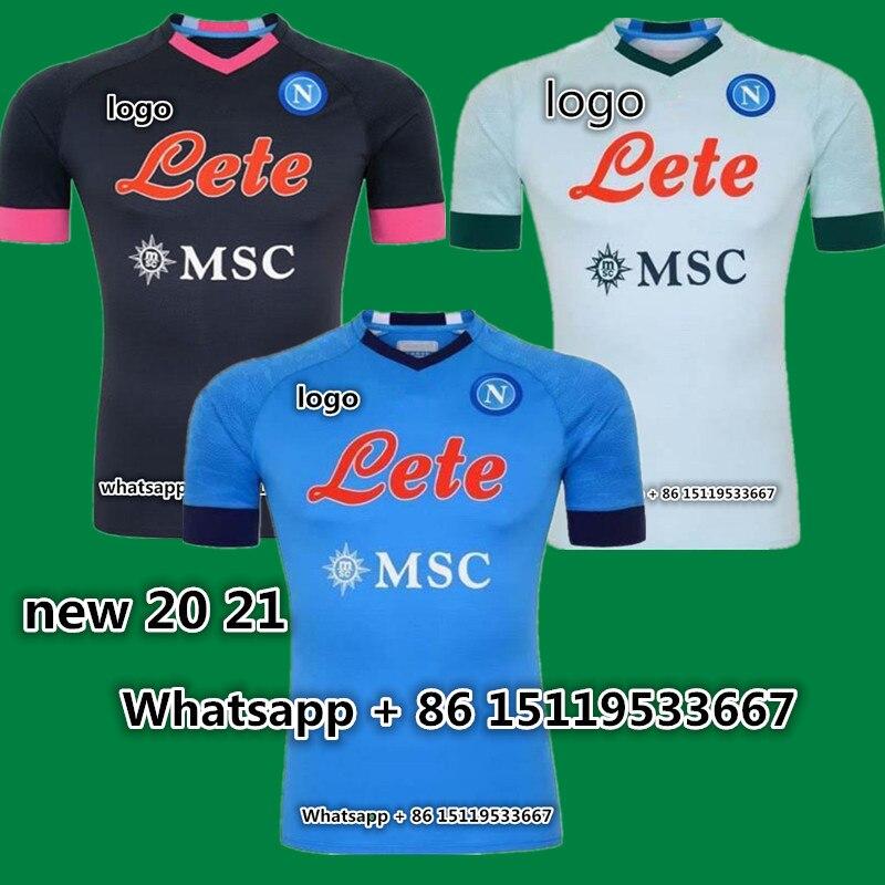 Adult 2020 2021 Napoli Soccer Jerseys Home Away Third 20 21 Naples Koulibaly Verdi Fabian Mertens Lozano Insigne Football Shirt T Shirts Aliexpress
