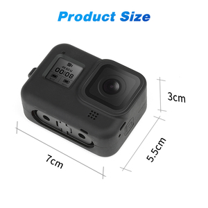 Image 5 - SHOOT for GoPro Hero 8 Black Protective Silicone Case Soft Bag Housing Cover Shell + Tempered Film for Go Pro Hero 8 Accessories