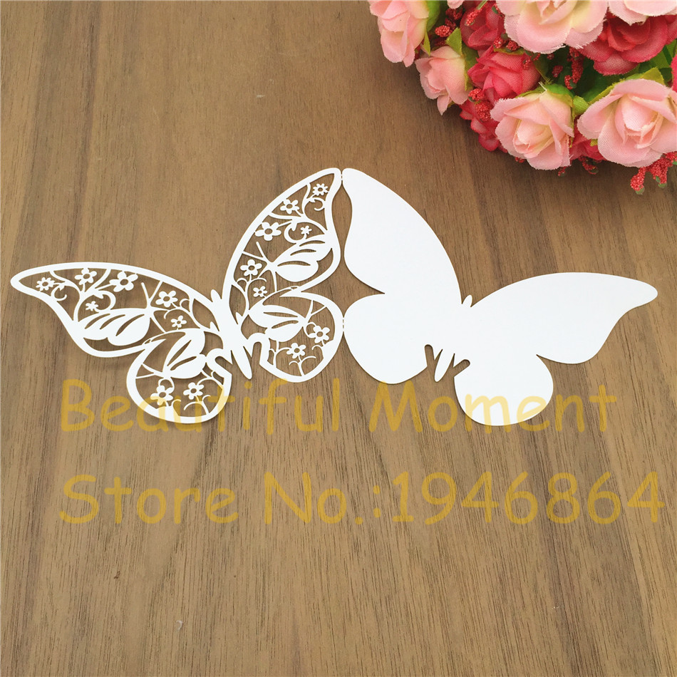 50Pcs laser cut Butterfly shaped Seat Name RSVP table Cards Wedding Party  Invitation Wish Message Cards for party home supplies|Party DIY  Decorations| - AliExpress