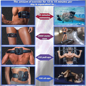 Image 5 - EMS Muscle Stimulator Trainer Smart Fitness Bauch Training Elektrische Gewicht Verlust Aufkleber Körper Abnehmen Gürtel Unisex