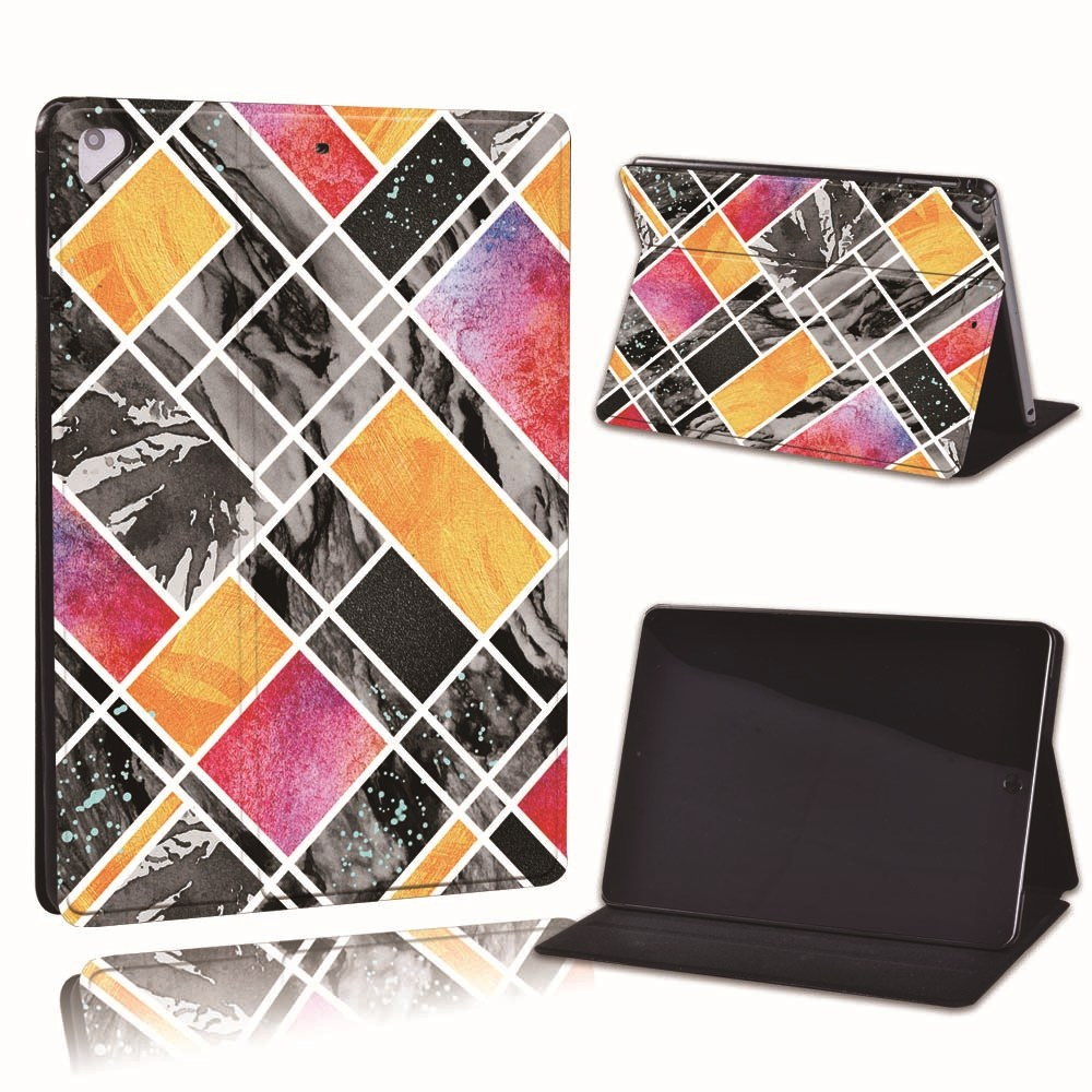 24.yellow pink Misty Gray For Apple iPad 8 10 2 2020 8th 8 Generation A2428 A2429 Slim Printed Geometry PU
