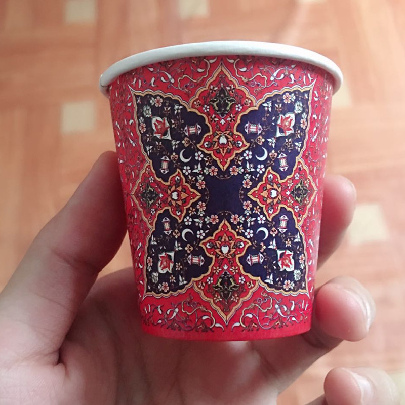 100pcs Creative disposable small tea cup 80ml mini coffee cups commercial promotion beverage wine juice milk paper cup