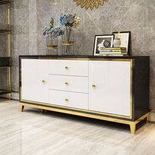 Light Storage-Cabinet Console Living-Room Modern Table-Entrance-Storage Steel-Paint Simple
