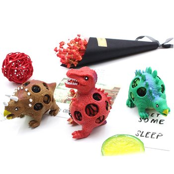 Dinosaur Model Grape Balls Stress Relief Hand Ball Sensory Fun Squeeze Decompression Toy Squeezing Ball for Kids Adults 2019 dinosaur squishy mesh ball grape squeeze relief fidget autism stress toys anti stress dinosaur grape ball kids toys gifts