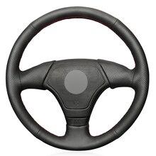 שחור PU דמוי עור רכב הגה כיסוי עבור BMW 3 סדרת E36 E46 1995 2000 5 סדרת E39 1995 1999 8 סדרת E31 1995 1997