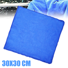 Car Care Car Detailing Towel Soft Microfiber Towel Cloths 30*30cm Blue High Absorbent for Home Auto Cleaning 70 x 30cm multi functional microfiber nanometer car washing hand towel blue