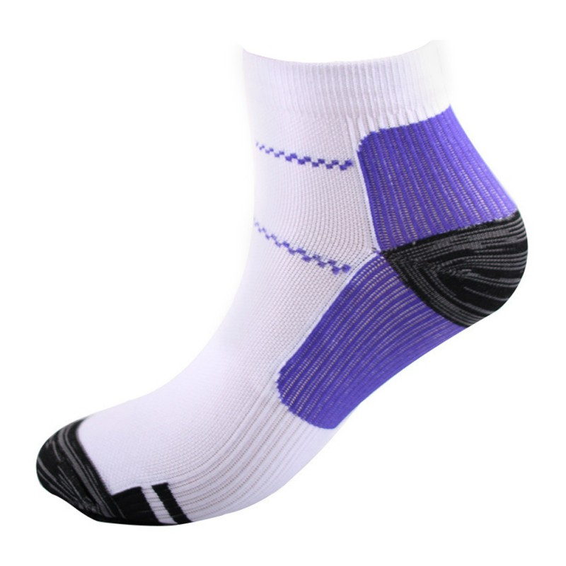1 Pair Foot Breathable Compression Socks Running Tennis Sports Sock For Heel Spurs Arch Pain Comfortable Socks  #3