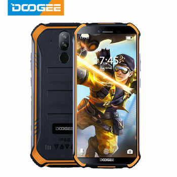 DOOGEE S40 IP68 IP69K Cep Telefonu 5.5 inç Ekran 4650 mAh MT6739 Dört Çekirdekli 3 GB RAM 32 GB ROM android 9.1 8.0MP Kamera 4G Ağ
