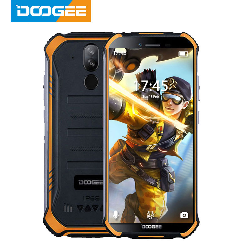 DOOGEE S40 IP68 IP69K Mobile Phone 5.5inch Display 4650mAh MT6739 Quad Core 3GB RAM 32GB ROM Android 9.1 8.0MP Camera 4G Network image