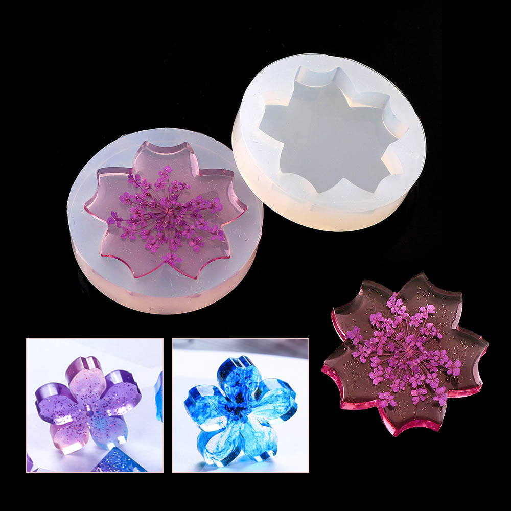 30mm High Quanlity Jewelry Cherry Blossoms Shape Body Pendant Casting Mold Tools Silicone Resin Craft DIY Jewelry Tool