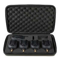 Fishing Bite Alarm Set 4 Alarms + 1 Receiver Wireless Digital Fishing Bite Alarm Fishing Receiver Kit With Portable Case|Fishing Tools| |  -