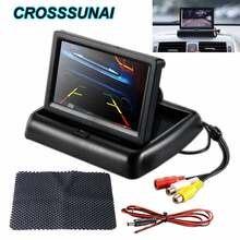 4.3 Cal składany Monitor do samochodu wyświetlacz LCD HD 16:9 ekran z przodu podgląd widoku z tyłu ekran aparatu Auto System parkowania 480*272
