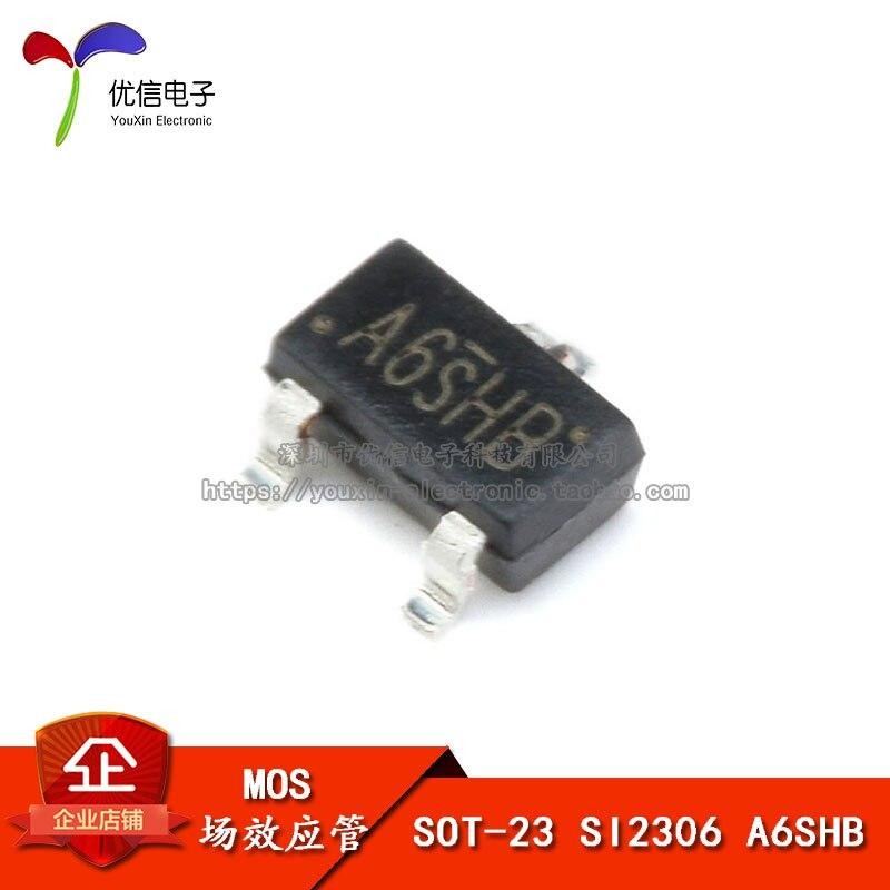 D-S MOSFET transistor SOT-23 NEW 50PCS SI2306 A6SHB 3.5A//30V N-Channel 30-V
