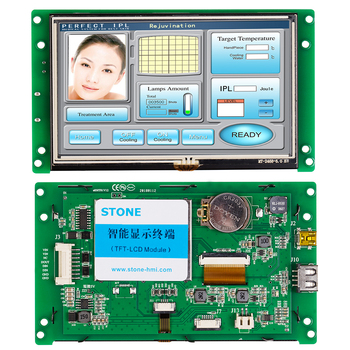 5.0 Inch Intelligent TFT LCD Home Control Monitor Touch Screen