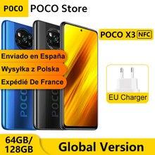 Versão global poco x3 nfc 6gb 64gb/128gb smartphone snapdragon 732g octa núcleo 6.67