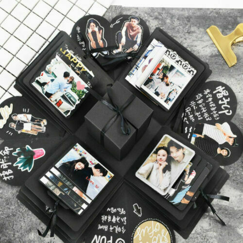 Photo-Album Boxes Scrapbook Explosion-Box Surprise Wedding-Gift Hexagon Valentine  title=