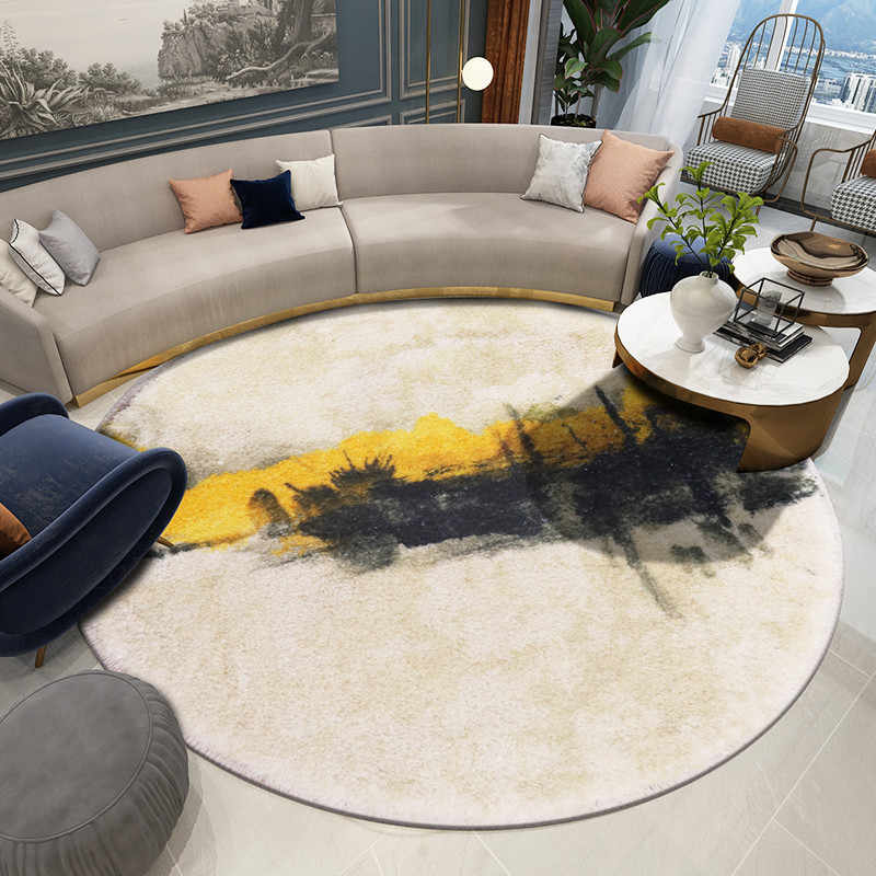 tapis rond nordique pour salon chambre a coucher moderne canape table basse decoration de maison style chinois tapis d etude