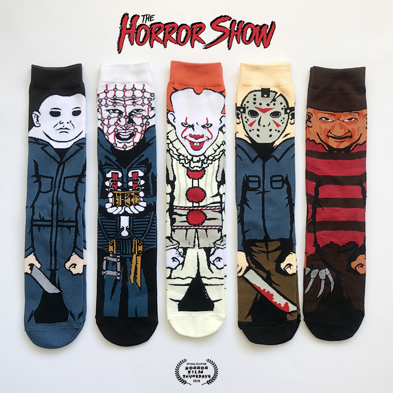 Crew Socks Skateboard-Socks Horror-Film Clown Halloween Funny Character Personality Cotton