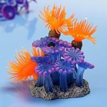 Décoration paysagère pour Aquarium, résine de corail souple, faux ornement artificiel, plante, Animal