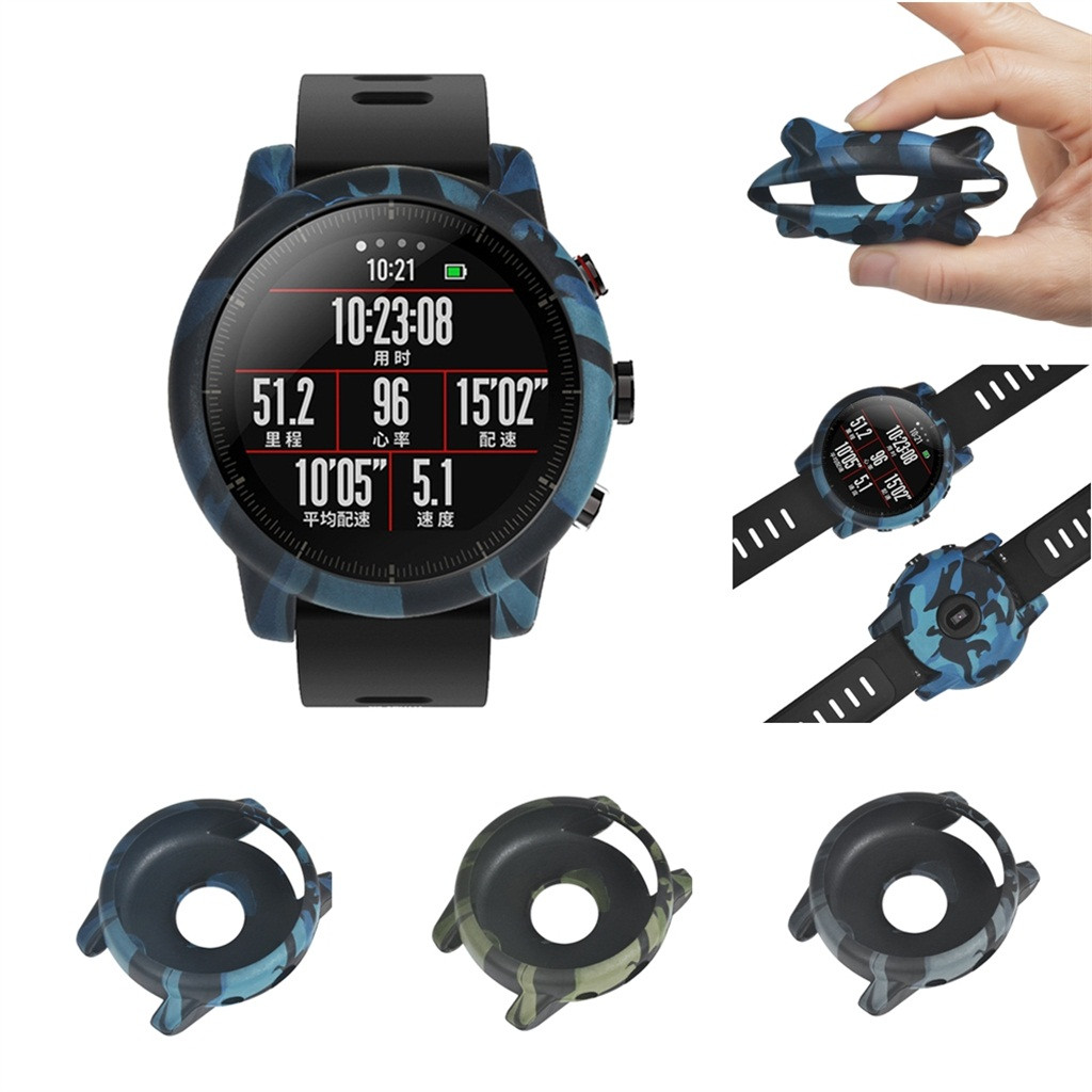 Slim Full Case Cover Protect Shell For Huami Amazfit Stratos Smart Watch 2/2S Pc Prevent Scratches Shockproof 3 Colours