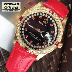 Image 5 - 2019 Womens Watch Large Dial Leather Digital Wristwatches Luminous Fashion Quartz Rhinestone Gold Watches Jewelry Luxury Gift