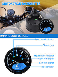 WUPP Indicator-Light Oil-Meter Digita Dial LED with Night-Vision Multifunction