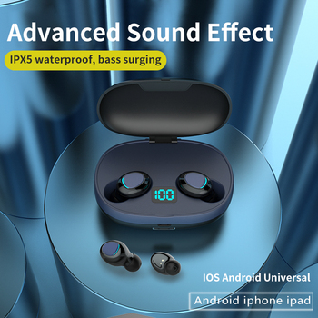 TWS 5.0 Bluetooth earphone 3D stereo wireless earphone with dual microphone wireless headphones sports earbuds gaming headset