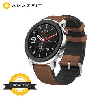[Ship from Russia] Amazfit GTR 47mm Smart Watch 24 Days Battery Music Control 5ATM Waterproof Smartwatch Leather Silicon Strap